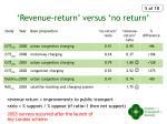 revenue return versus no return