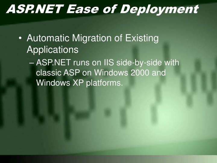 ASP.NET Ease of Deployment