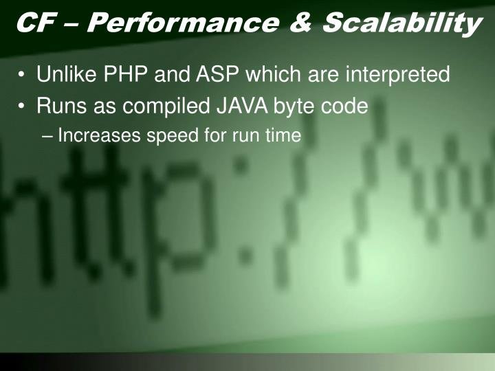 CF – Performance & Scalability