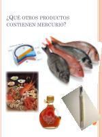 qu otros productos contienen mercurio