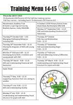 training menu 14 151