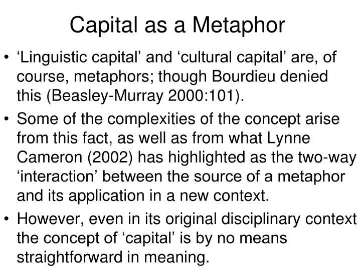 Capital as a Metaphor