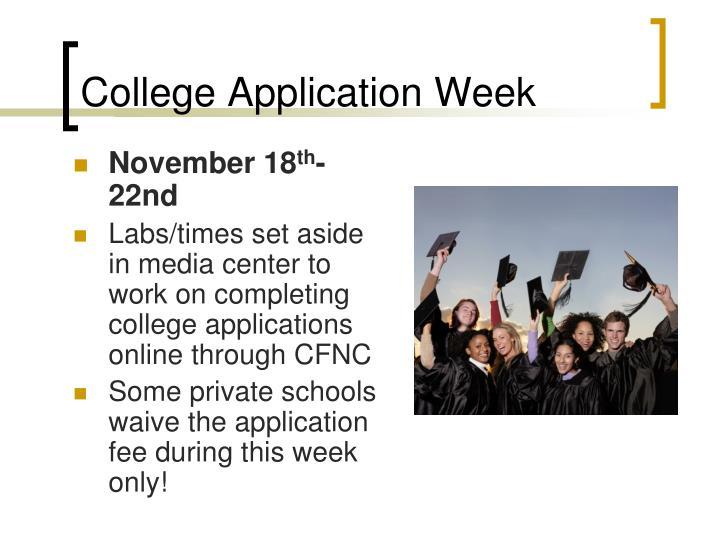 College Application Week