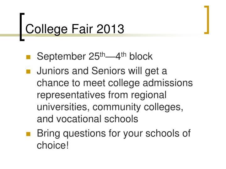 College Fair 2013