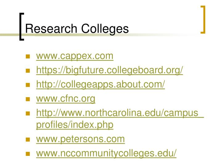 Research Colleges