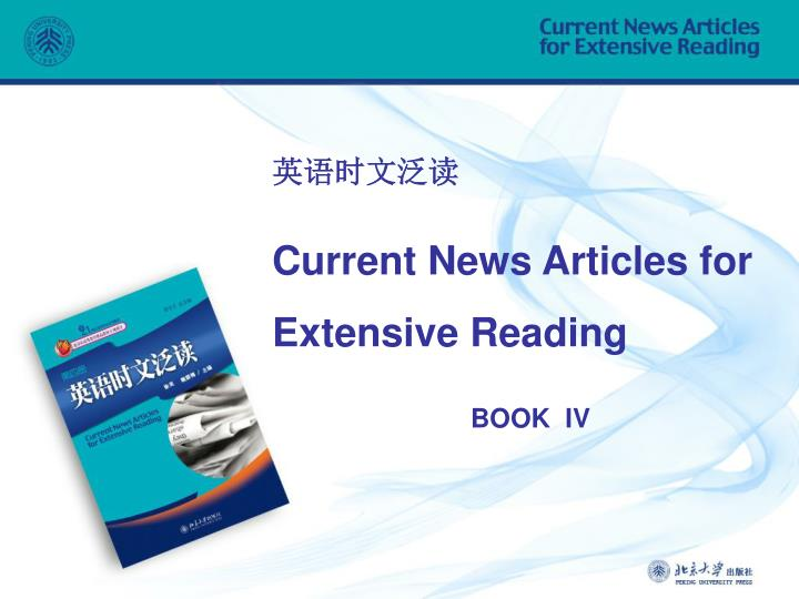 current news articles for extensive reading n.