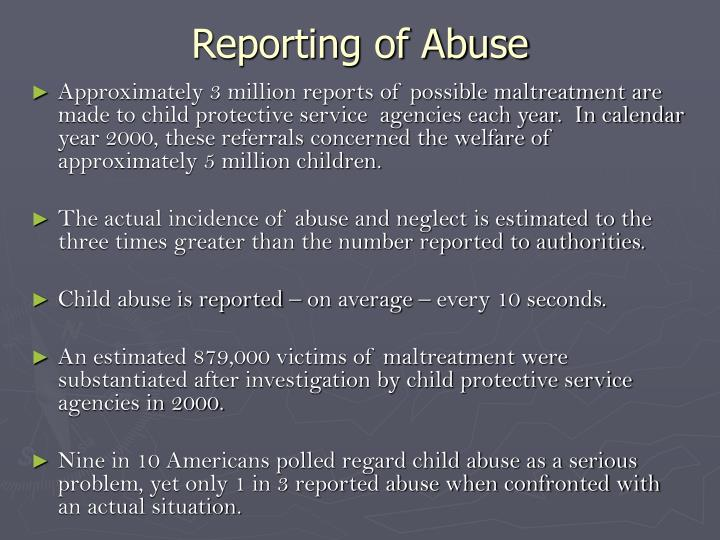 Reporting of Abuse