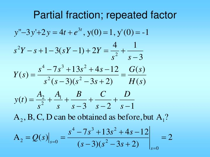 Partial fraction; repeated factor