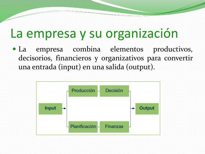 La empresa y su organización