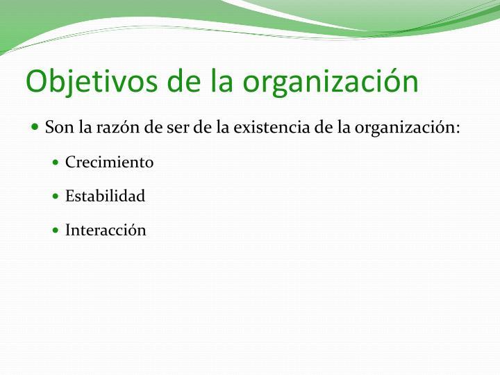 Objetivos de la organizaci n
