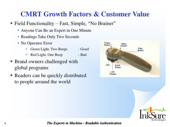 CMRT Growth Factors & Customer Value