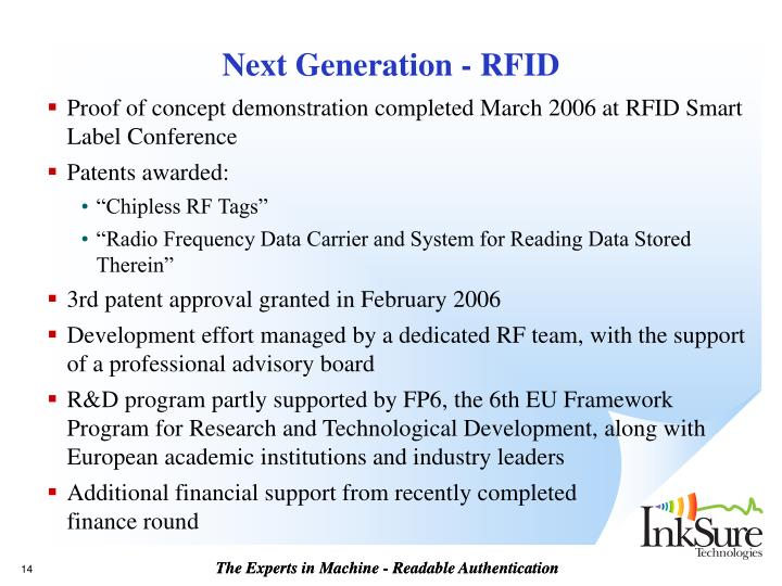 Next Generation - RFID