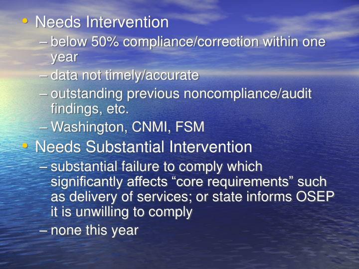 Needs Intervention