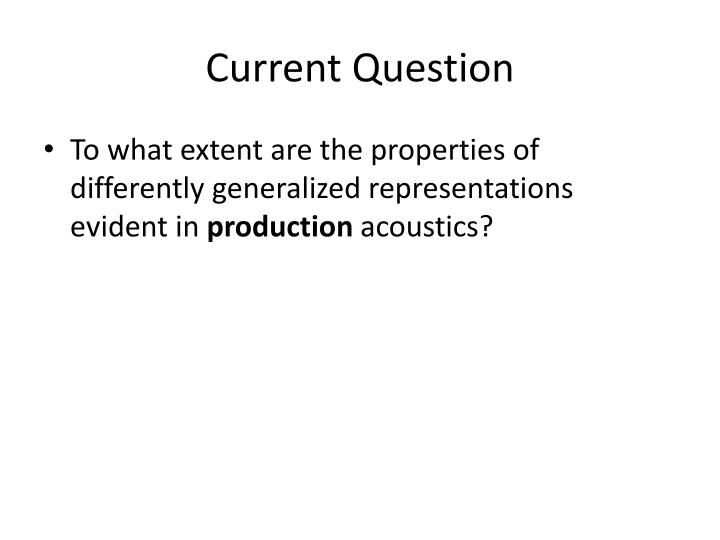 Current Question