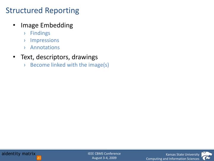 Structured Reporting