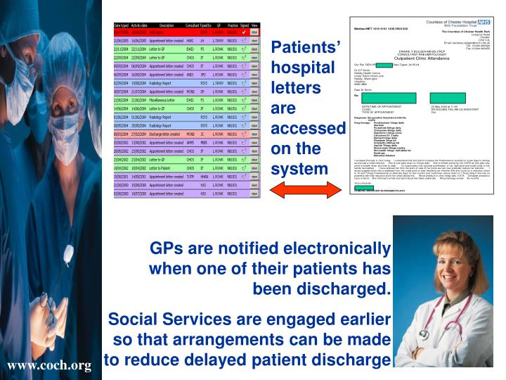 Patients' hospital letters are accessed on the system