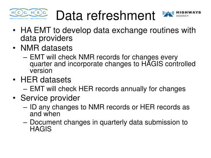 HA EMT to develop data exchange routines with data providers