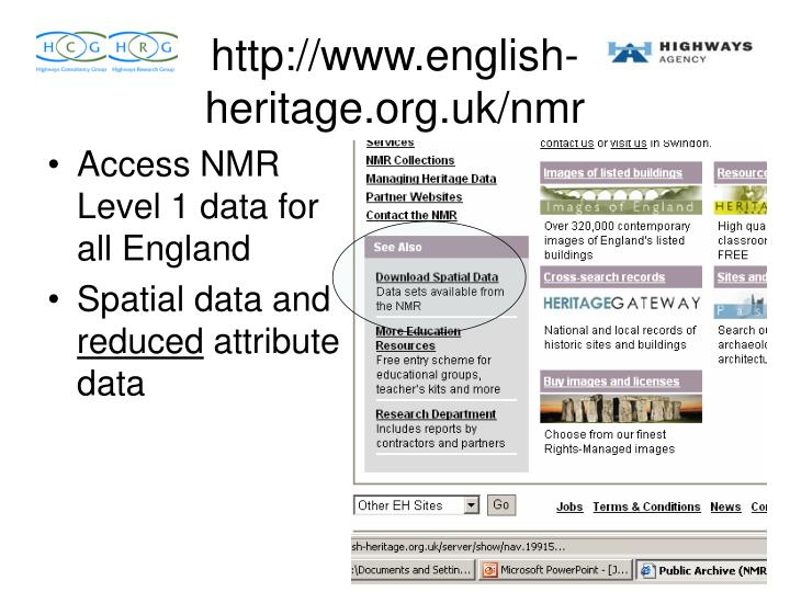 Access NMR Level 1 data for all England
