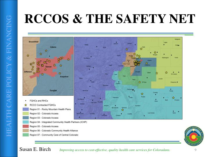 RCCOS & THE SAFETY NET