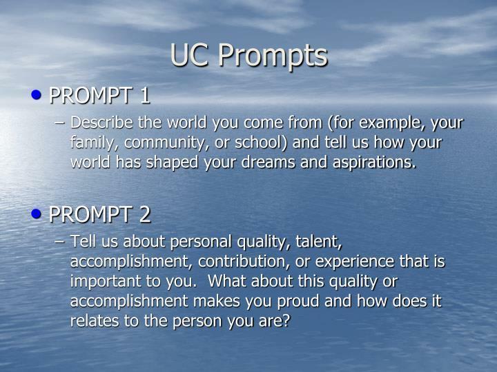 UC Prompts