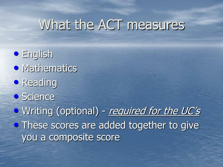 What the ACT measures