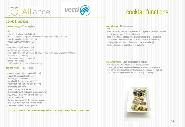 cocktail functions