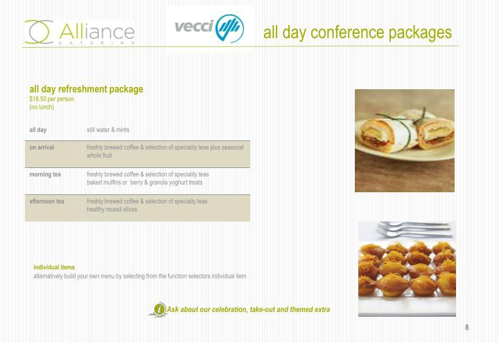 all day conference packages