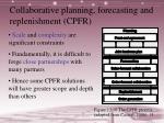 collaborative planning forecasting and replenishment cpfr