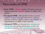 three modes of cpfr