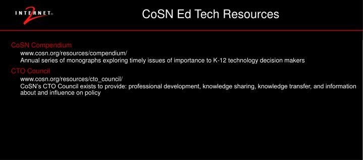 CoSN Ed Tech Resources