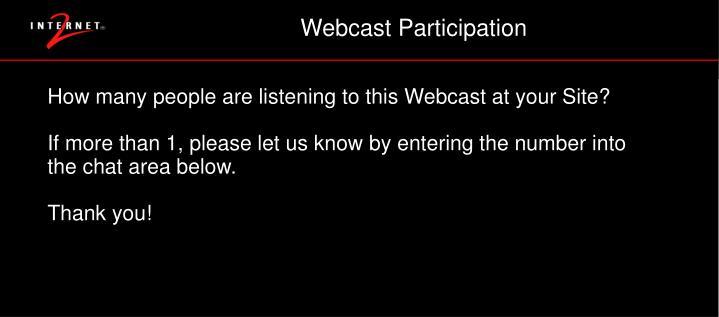 Webcast Participation