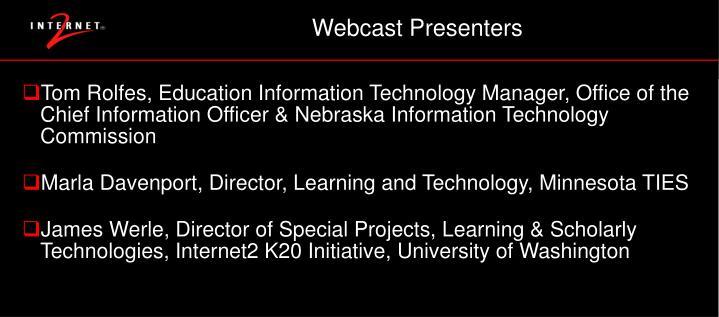 Webcast Presenters