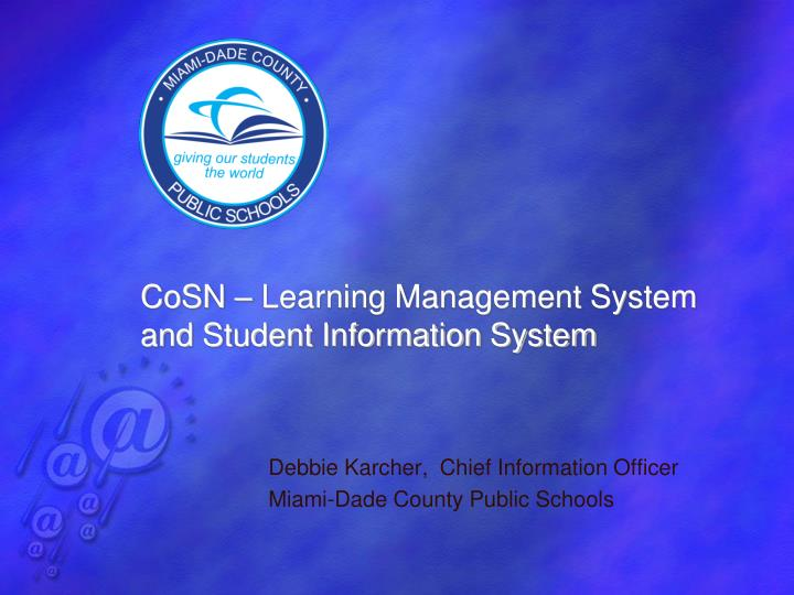 cosn learning management system and student information system n.