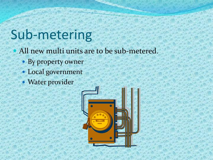 Sub-metering