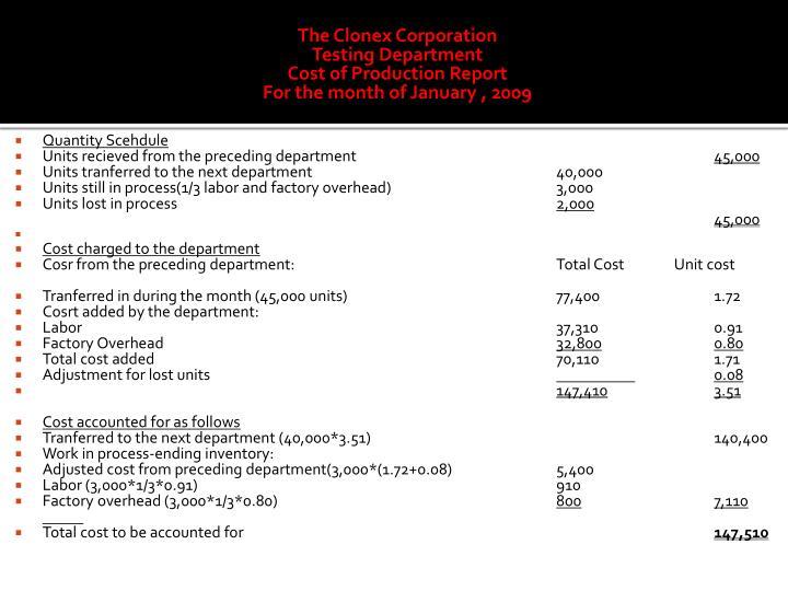 The Clonex Corporation