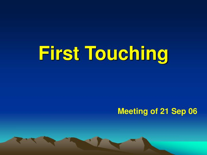 first touching n.