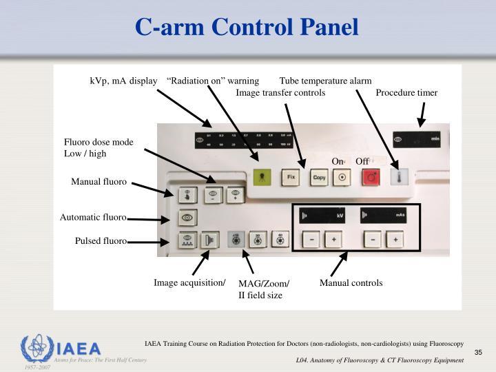 C-arm Control Panel