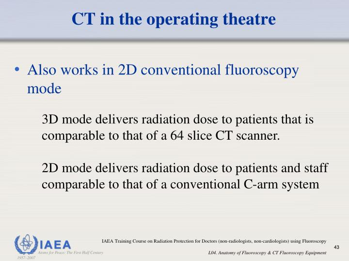 CT in the operating theatre