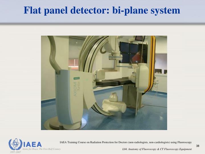 Flat panel detector: bi-plane system