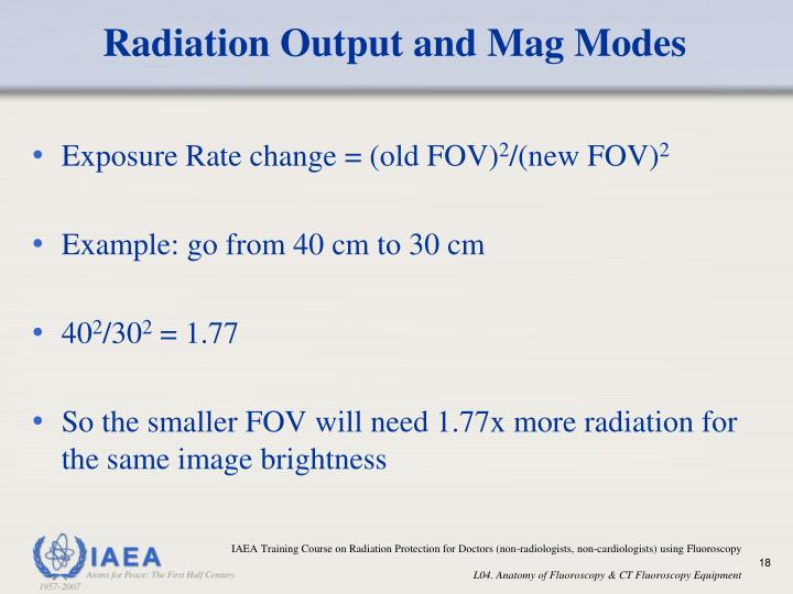Radiation Output and Mag Modes