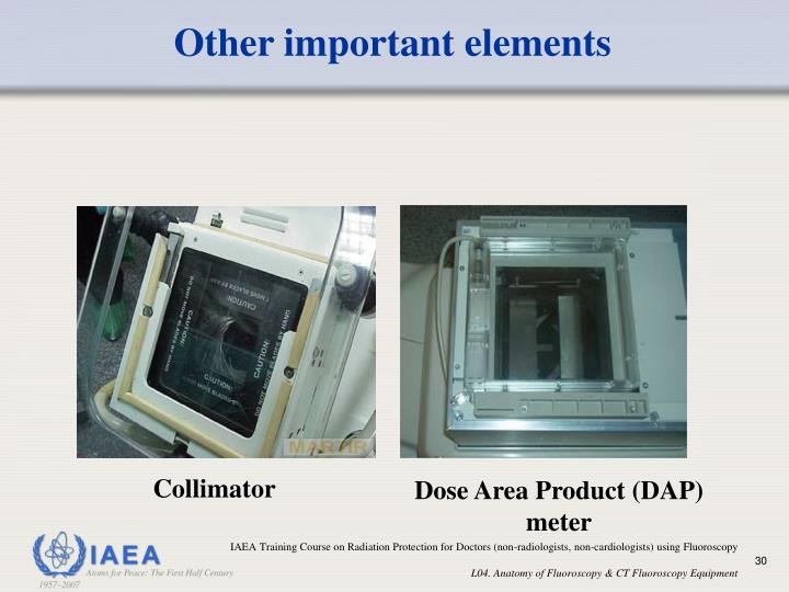 Other important elements