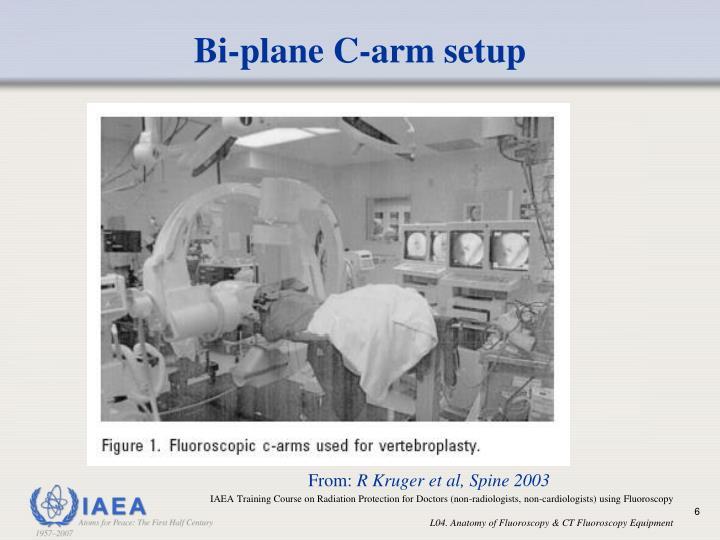 Bi-plane C-arm setup
