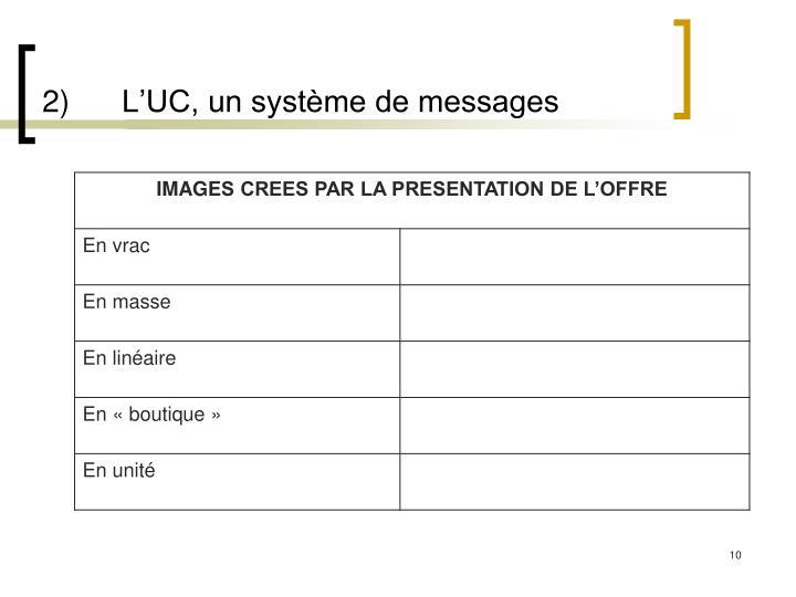 2)L'UC, un système de messages
