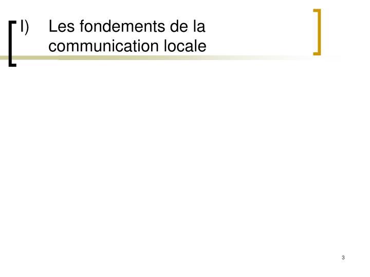 I les fondements de la communication locale