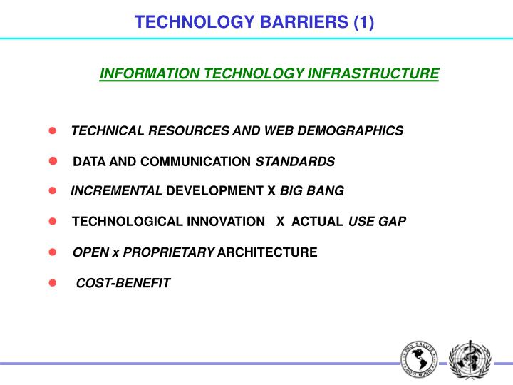 TECHNOLOGY BARRIERS (1)