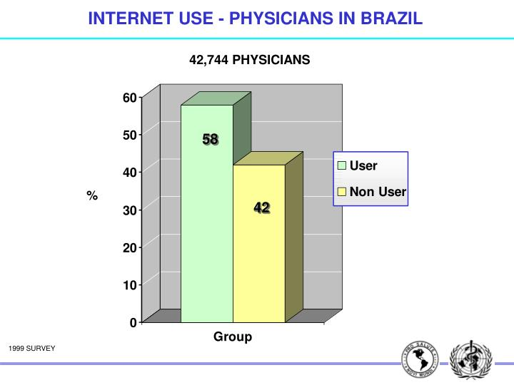 INTERNET USE - PHYSICIANS IN BRAZIL