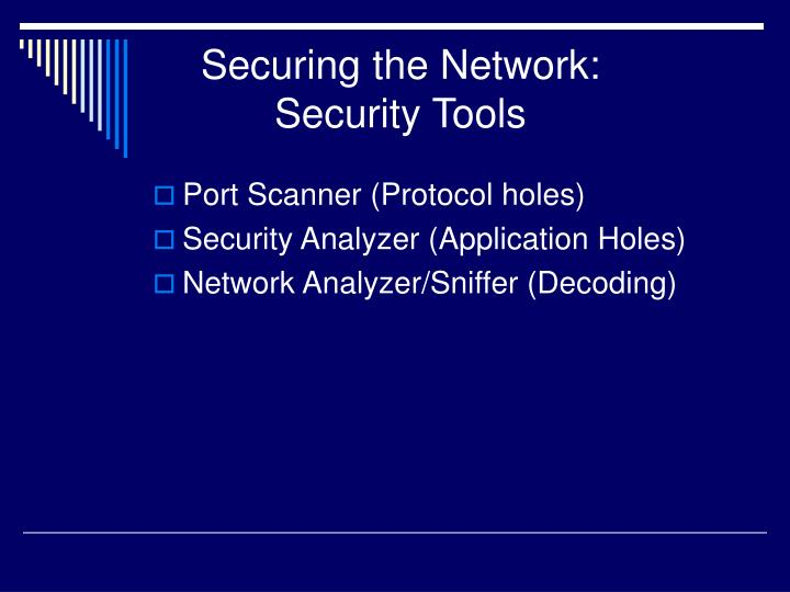Securing the Network: