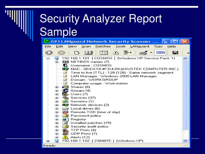 Security Analyzer Report Sample
