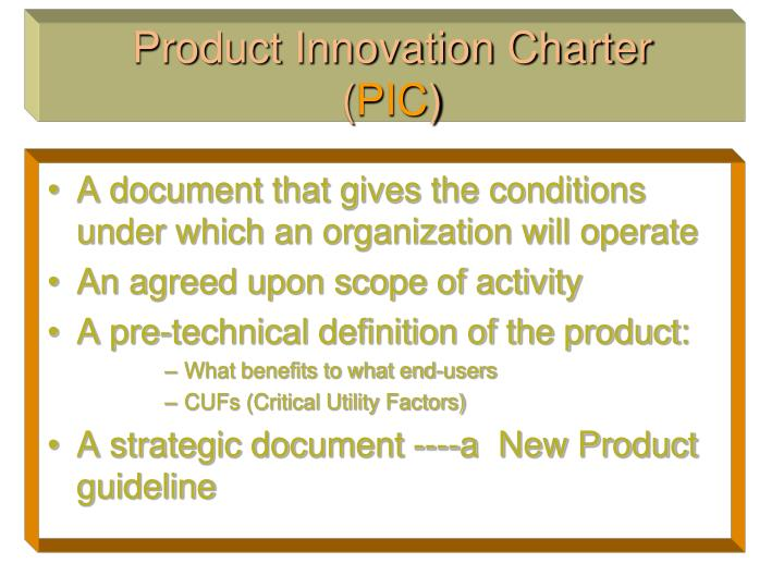 product innovation charter the idash