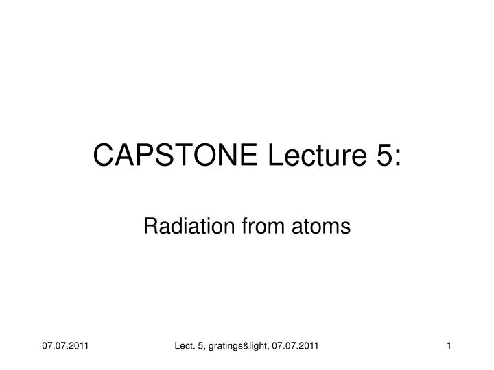 capstone lecture 5 n.